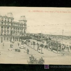Postales: TARJETA POSTAL ANTIGUA DE SANTANDER. GRAN HOTEL Y PLAZA DE LINARES REFORMADA. Nº 43. . Lote 17231356