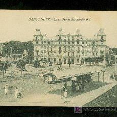 Postales: TARJETA POSTAL ANTIGUA DE SANTANDER. GRAN HOTEL DEL SARDINERO. CASTAÑEIRA, ALVAREZ Y LEVENFELD.. Lote 17231384