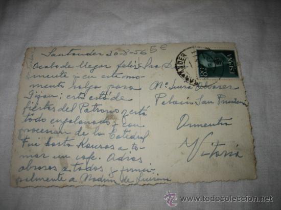 Postales: SANTANDER. 53 SUBIDA A PIQUIO EDICIONES ARRIBAS CIRCULADA - Foto 2 - 17284352