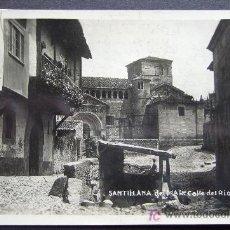 Postales: CANTABRIA – SANTILLANA DEL MAR – CALLE DEL RÍO POSTAL FOTOGRÁFICA. Lote 25254285