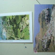 Postales: 2 POSTALES DEL CAMPING LOS SAUCES (RIBADESELLA, ASTURIAS) Y CAMPING PLAYA DE ISLA (ISLA, CANTABRÍA).. Lote 17478912