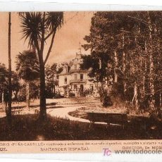 Postales: TARJETA POSTAL DE SANTANDER. SANATORIO PEÑA CASTILLO, PARQUE. FOTOTIPIA HAUSER Y MENET. Lote 17907694