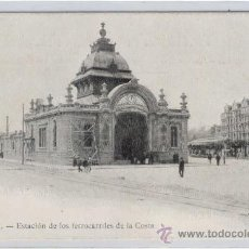 Postales: (PS-15863)POSTAL DE SANTANDER-ESTACION DE LOS FERROCARRILES DE LA COSTA. Lote 18070296