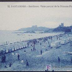 Postales: SANTANDER – SARDINERO - VISTA PARCIAL DE LA PRIMERA PLAYA. Lote 25013758