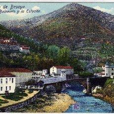 Postales: PRECIOSA POSTAL - CALDAS DE BESAYA (SANTANDER) - CANTABRIA - EL BALNEARIO Y LA ESTACION. Lote 19811919
