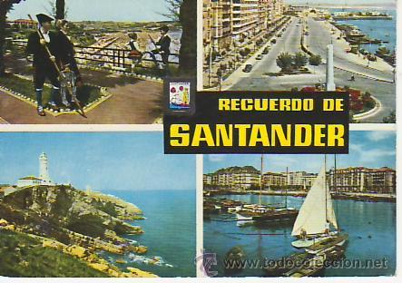 RECUERDO DE SANTANDER. VEA MAS POSTALES EN RASTRILLOPORTOBELLO (Postales - España - Cantabria Moderna (desde 1.940))