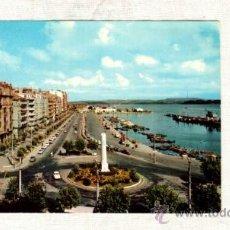 Postales: SANTANDER 4409 CALLE DE CASTELAR 1966 CANTABRIA PUERTO VEHICULOS EDIFICIOS PLAZA MONUMENTO . Lote 21001377