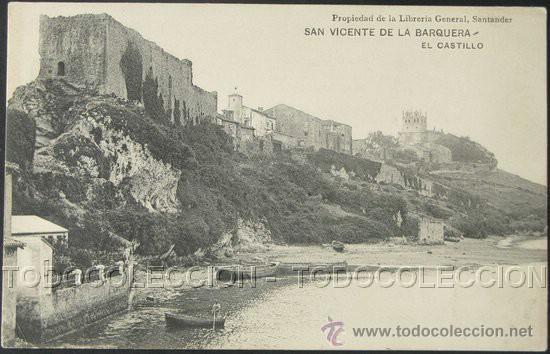 Resultado de imagen de castillo san vicente de la barquera foto antigua