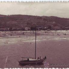 Postales: LAREDO (CANTABRIA): LA PLAYA. FOTO AUFER. CIRCULADA (AÑOS 50). Lote 22492909
