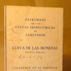 Postales: POSTAL, 8 POSTALES CUEVA DE LAS MONEDAS, 1957, SANTANDER, PATRONATO DE LAS CUEVAS PREHISTORICAS, PUE. Lote 22682496