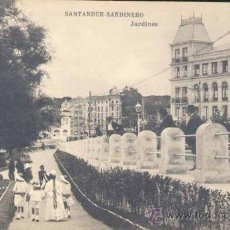 Postales: SANTANDER-SARDINERO.- JARDINES. Lote 22695621