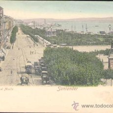 Postales: SANTANDER (CANTABRIA).- PZA VELARDE Y EL MUELLE. Lote 22695633