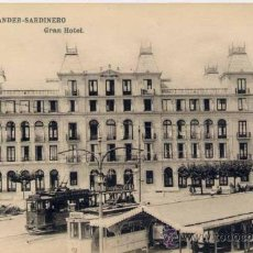Postales: SANTANDER-SARDINERO.- GRAN HOTEL. Lote 22695680