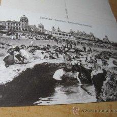 Postales: SANTANDER CANTABRIA - SARDINERO PRIMERA PLAYA - EDI VILCHES S/C - APROX 1923 PERFECTA . Lote 22841138