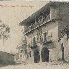 Postales: TARJETA POSTAL ESPAÑA MODERNA 1.940, SANTANDER, SANTILLANA, CASA DE LOS TAGLES. Lote 22945639