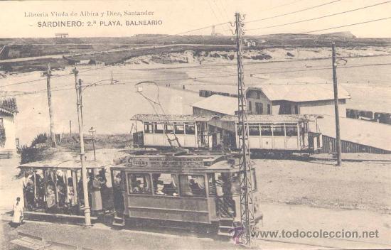 SANTANDER.- SRDINERO: 2ª PLAYA BALNEARIO (Postales - España - Cantabria Antigua (hasta 1.939))