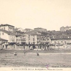 Postales: SAN VICENTE DE LA BARQUERA (CANTABRIA).- PLAZA DEL CANTÓN. Lote 23173313