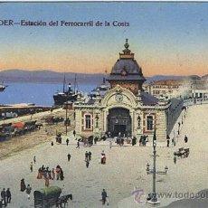 Postales: TARJETA POSTAL ESPAÑA ANTIGUA 1.939, SANTANDER, ESTACIÓN DEL FERROCARRIL DE LA COSTA. Lote 23442909