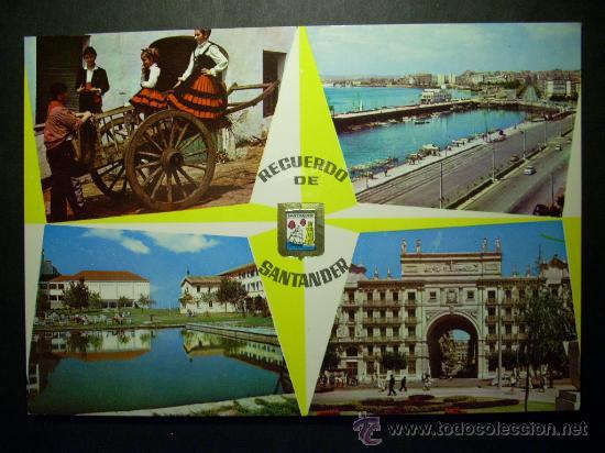 8507 ESPAÑA SPAIN CANTABRIA SANTANDER RECUERDO POSTCARD AÑOS 60/70 ESCRITA - TENGO MAS POSTALES (Postales - España - Cantabria Moderna (desde 1.940))