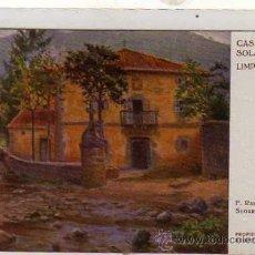 Postales: CANTABRIA. LIMPIAS. CASA SOLARIEGA. F. RAFAEL SEGURA. ED VICTORIA. SERIE A Nº 5. SIN CIRCULAR.. Lote 23997067