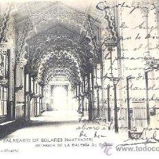 Postales: PS2598 SANTANDER 'BALNEARIO DE SOLARES - INTERIOR DE LA GALERÍA DE BAÑOS'. HAUSER Y MENET. 1909. Lote 24090195