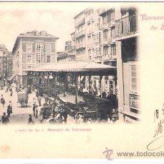Postales: SANTANDER- MERCADO DE ATARAZANAS -SERIE 2-Nº4-DUOMARCO-CIRCULADA 1902-( 5082). Lote 24297462