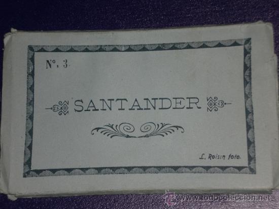SANTANDER: 10 POSTALES PLEGADAS, CONTENIDAS EN CARPETILLA Nº 3. FOTO L. ROISIN. (Postales - España - Cantabria Moderna (desde 1.940))