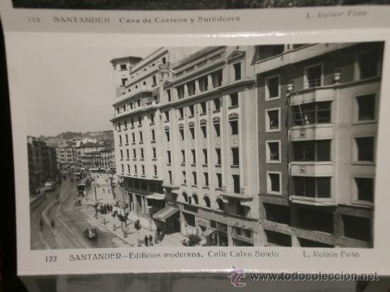 Postales: SANTANDER: 10 POSTALES PLEGADAS, CONTENIDAS EN CARPETILLA Nº 3. FOTO L. ROISIN. - Foto 2 - 24554114