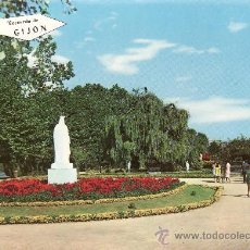 Postales: GIJON.PARQUE ISABEL LA CATOLICA..MAS POSTALES Y COLECCIONISMO EN RASTRILLOPORTOBELLO. Lote 24709100