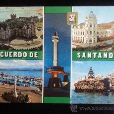 Postales: RECUERDO DE SANTANDER. SIN CIRCULAR. Lote 25531647