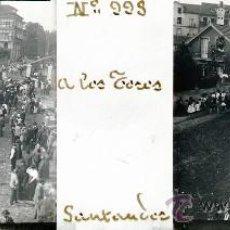 Postales: ANTIGUA FOTOGRAFIA ESTEREOSCOPICA DE CRISTAL DE SANTANDER - A LOS TOROS - MIDE 10,7 X 4,4 CMS. TAL C. Lote 27017706
