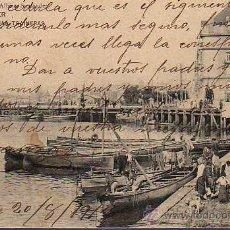 Postales: MUY BUENA POSTAL DE SANTANDER LANCHAS TRAINERAS DE LIBRERIA M,ALBIRA 1913. Lote 25803224