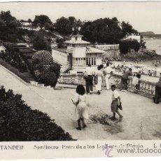 Postales: 107 SANTANDER - SARDINERO - ENTRADA A LOS JARDINES DE PIQUIO - L. ROLSIN FOTO. Lote 26347220