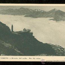 Postales: TARJETA POSTAL DE PICOS DE EUROPA. MIRADOR DEL CABLE. MAR DE NUBES.. Lote 26363371
