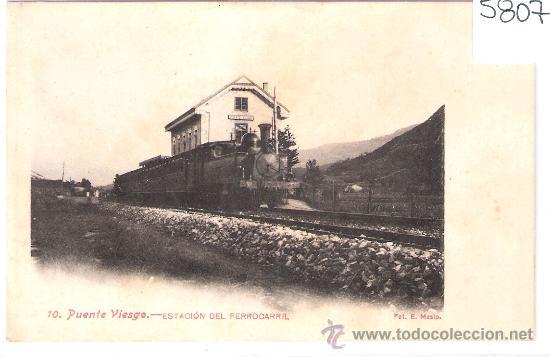 PUENTEVIESGO- 10- ESTACIÓN DEL FERROCARRIL- FOT. E. MASIP- (5807) (Postales - España - Cantabria Antigua (hasta 1.939))