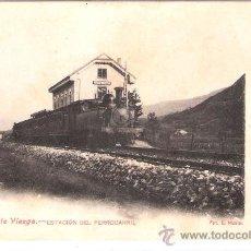 Postales: PUENTEVIESGO- 10- ESTACIÓN DEL FERROCARRIL- FOT. E. MASIP- (5807). Lote 26411959