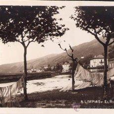 Postales: LIMPIAS (CANTABRIA).- EL RIO ASON. Lote 27233582