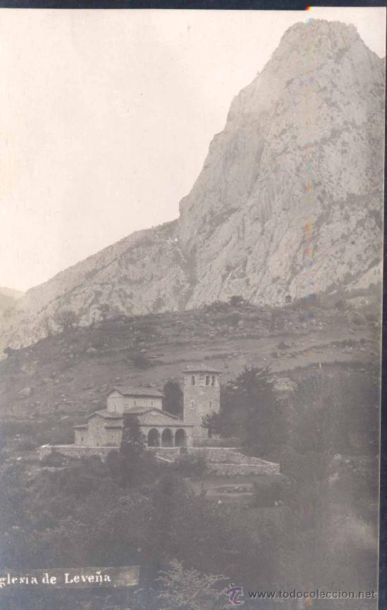 IGLESIA DE LEVEÑA (CANTABRIA).-POSTAL FOTOGRÁFICA DE ALVARO FERNÁNDEZ (Postales - España - Cantabria Moderna (desde 1.940))