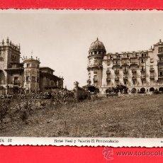 Postales: POSTAL DE SANTANDER HOTEL REAL Y PALACIO EL PROMONTORIO EDICION ARRIBES SIN CIRCULAR. Lote 194589236