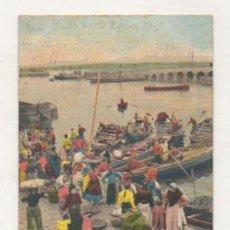 Cartes Postales: SANTANDER. DESEMBARQUE DE LA PESCA. (CIRCULADA EN 1907. REVERSO SIN DIVIDIR.). Lote 27659425
