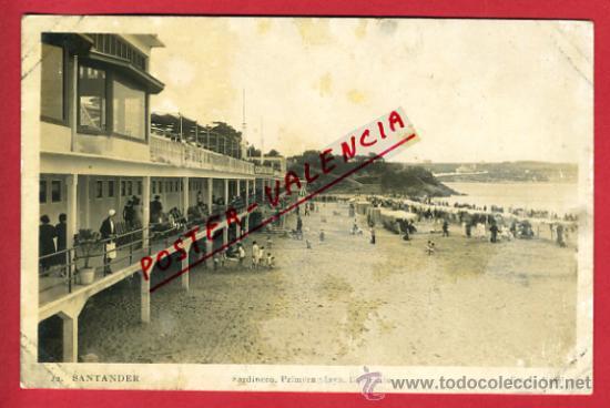 SANTANDER, SARDINERO, LA PRIMERA PLAYA, BALNEARIO, P63110 (Postales - España - Cantabria Antigua (hasta 1.939))