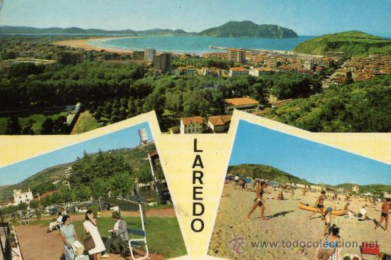 LAREDO Nº 4 CUSCÓ ESCRITA CIRCULADA SELLO (Postales - España - Cantabria Moderna (desde 1.940))