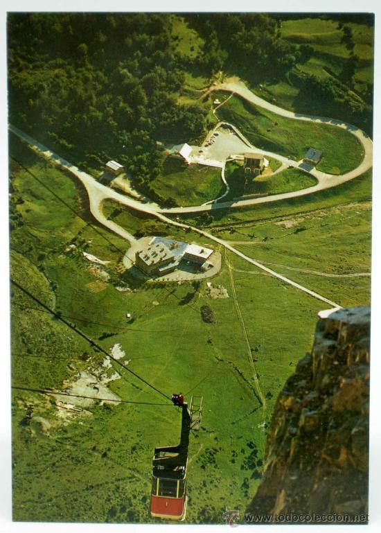 POSTAL FUENTE DE LIÉBANA FUNICULAR TELEFÉRICO EDICIONES FOURNIER F SANTAMATILDE 1969 SIN CIRCULAR (Postales - España - Cantabria Moderna (desde 1.940))