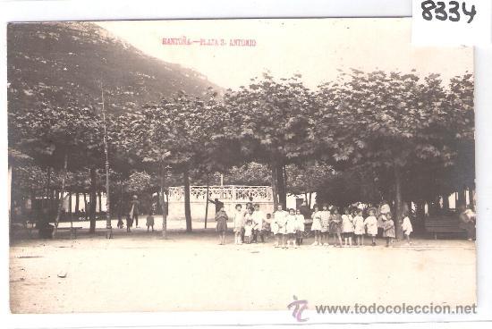 SANTOÑA - PLAZA SAN ANTONIO - FOTOGRAFICA - (8334) (Postales - España - Cantabria Antigua (hasta 1.939))