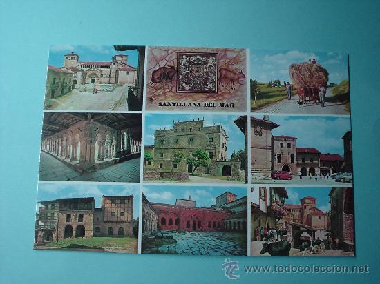 POSTAL. IMÁGENES DE SANTILLA DEL MAR. CANTABRIA. ESPAÑA (Postales - España - Cantabria Moderna (desde 1.940))