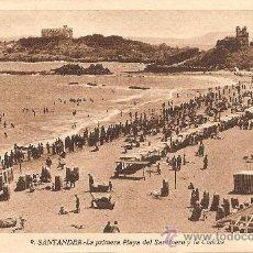 Postales: SANTANDER - LA PRIMERA PLAYA DEL SARDINERO Y LA CONCHA - L.ROISIN - SIN CIRCULAR. Lote 30188459