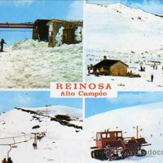 Postales: REINOSA Nº 448 ALTO CAMPOO SANTANDER ESTACIÓN INVERNAL ESCRITA CIRCULADA CUATRO SELLOS. Lote 30452788