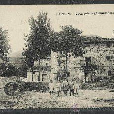 Postales: LIMPIAS - 8 - CASA SOLARIEGA MONTAÑESA - (8996). Lote 30513459
