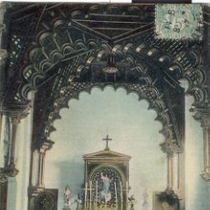 Postales: POSTAL 1900 COLOREADA BALNEARIO DE SOLARES - INTERIOR DE LA CAPILLA - SANTANDER - CANTABRIA -RARA. Lote 30584183