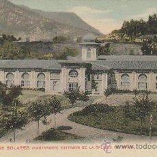 Postales: BELLISIMA POSTAL DEL BALNEARIO DE SOLARES - SANTANDER - CANTABRIA. Lote 30677953